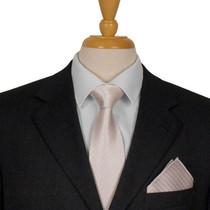 White Dotted Silk Tie