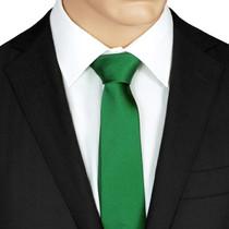 Plain Green SilkTie