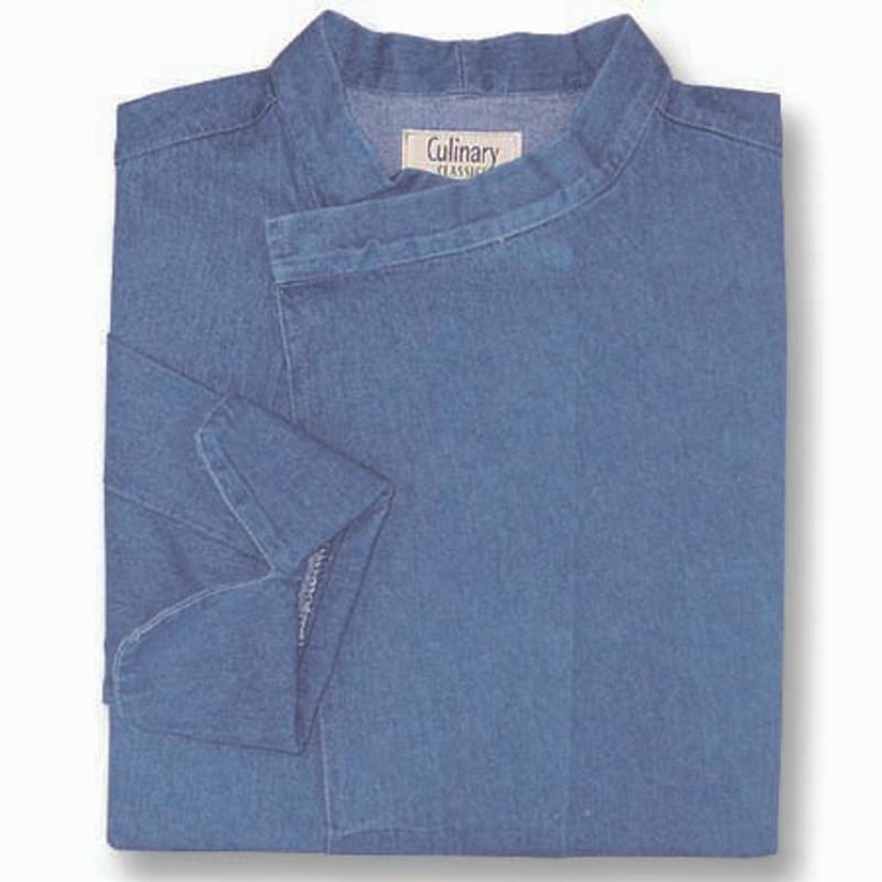 Tunic Chef Coat in Blue Denim