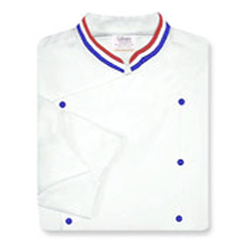 Venetian Coat in White with Tri-Color Ribbon Collar