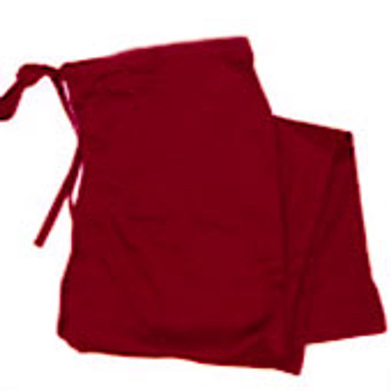 Scrub Chef Pants in 100% Burgundy Cotton Twill