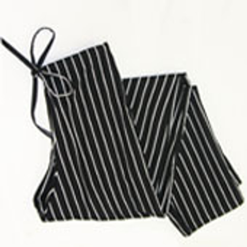 Scrub Chef Pants in 100% Cotton Black and White Pinstripe