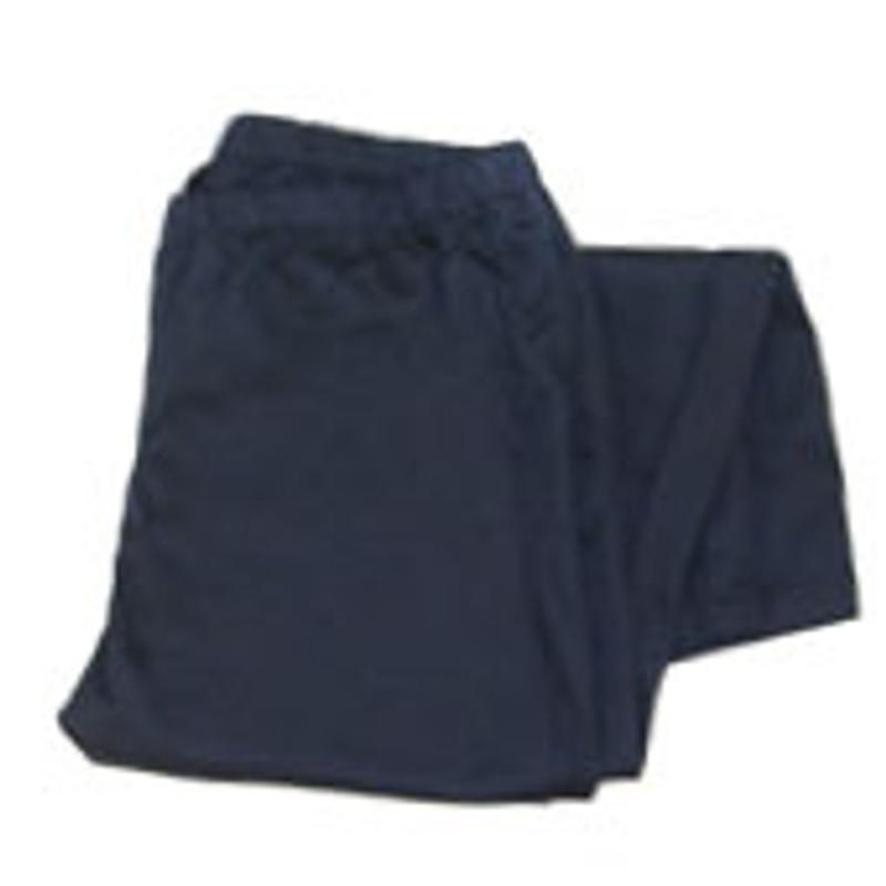 Women's Straight Leg Chef Pants in Navy Twill