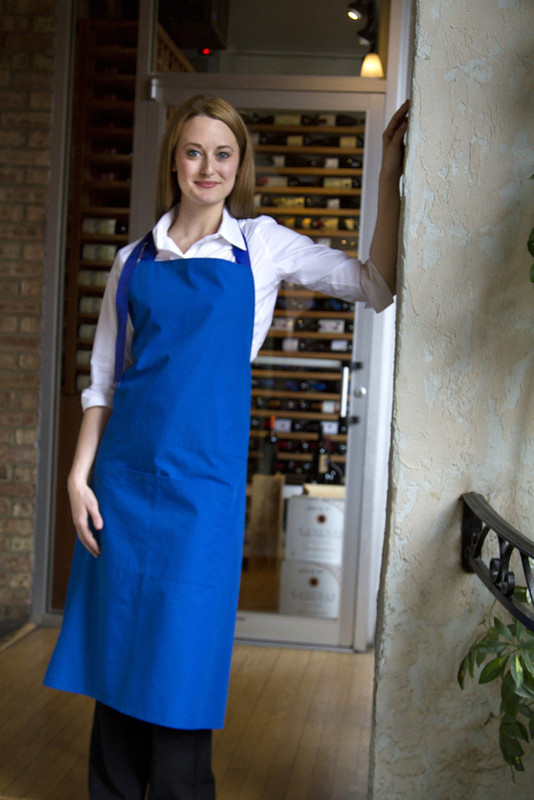 Premium Royal Bib Apron in Royal Blue or Bright Red