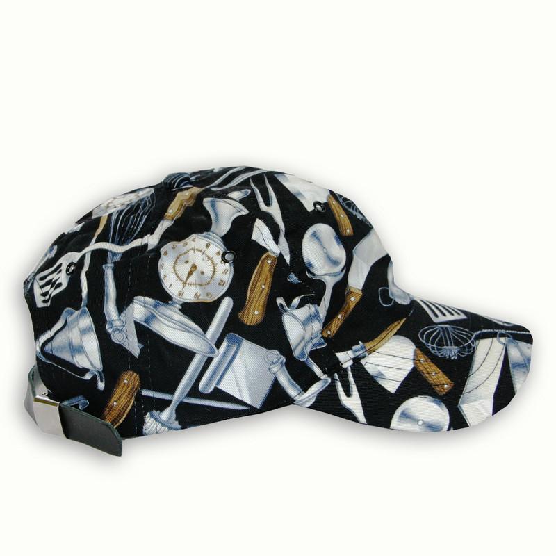 Premium Baseball Cap in 100% Cotton Cooking Utensils Black