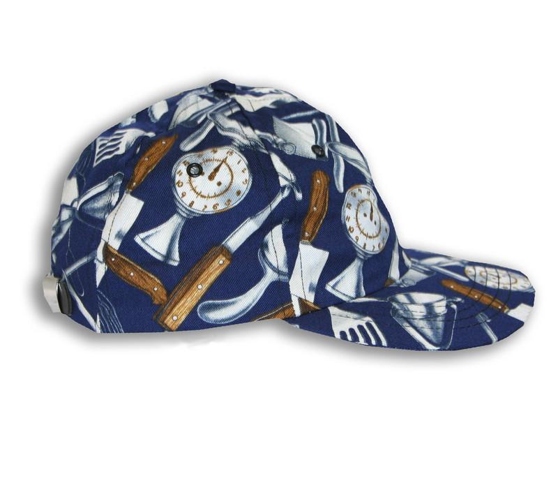 Premium Baseball Cap in 100% Cotton Cooking Utensils Navy