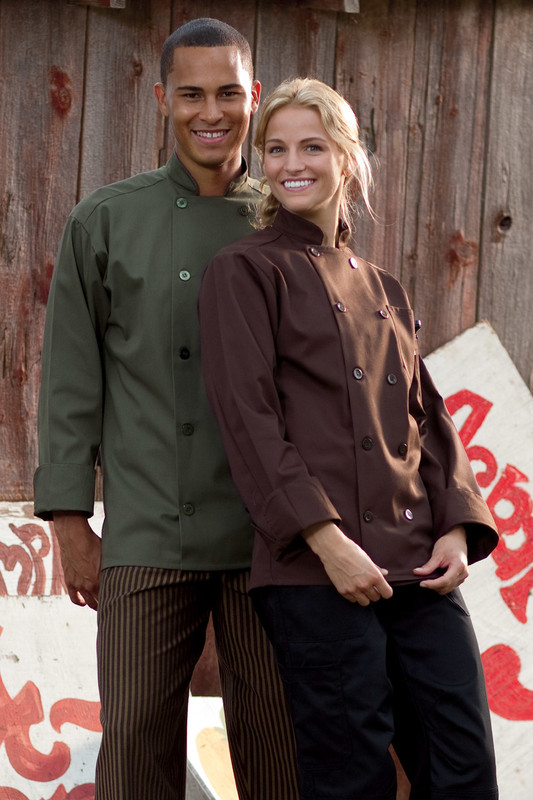 Orleans Chef Coat in Brown