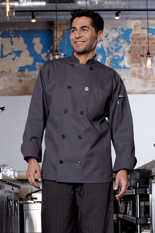 Orleans Chef Coat in Slate