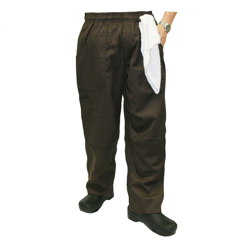 Grunge Cargo Chef Pants in Brown