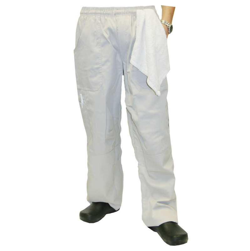Grunge Cargo Chef Pants in Stone
