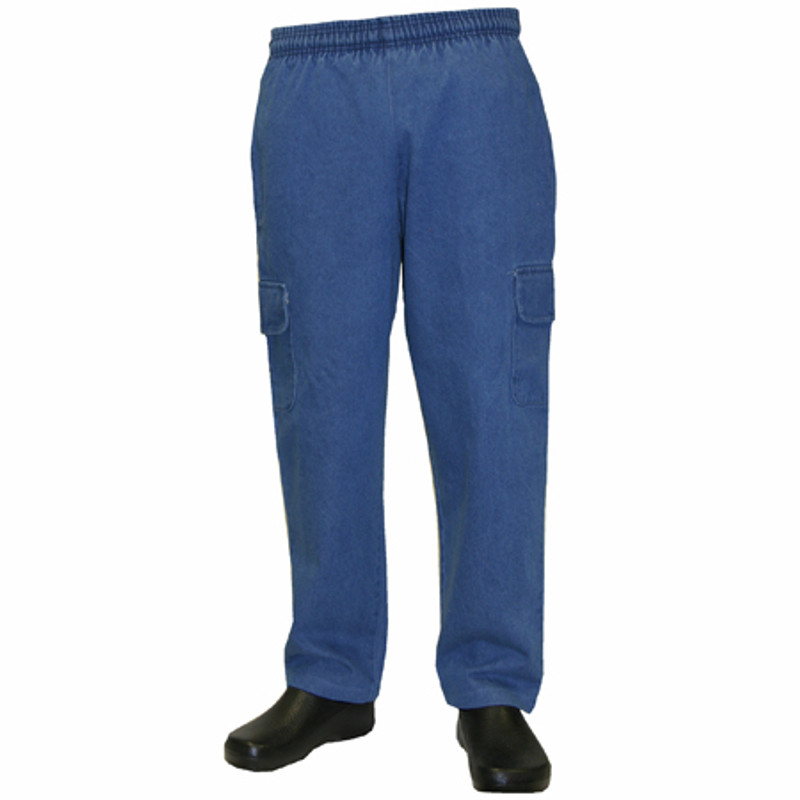 Cargo Chef Pants in Denim