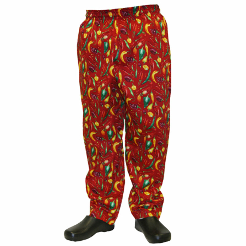 Baggy Chef Pants in Cotton Peppers - 5 colors/patterns to choose from!