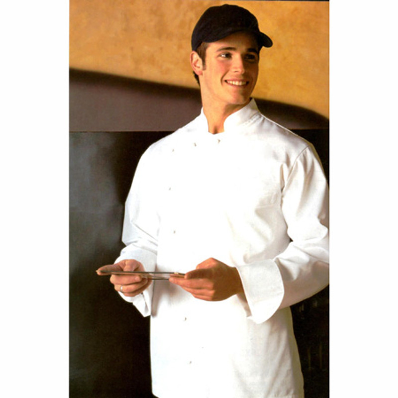 Bordeaux Chef Coat in White Poplin