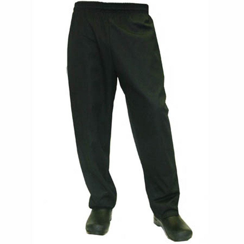 Baggy Chef Pants in 100% Black Cotton Twill