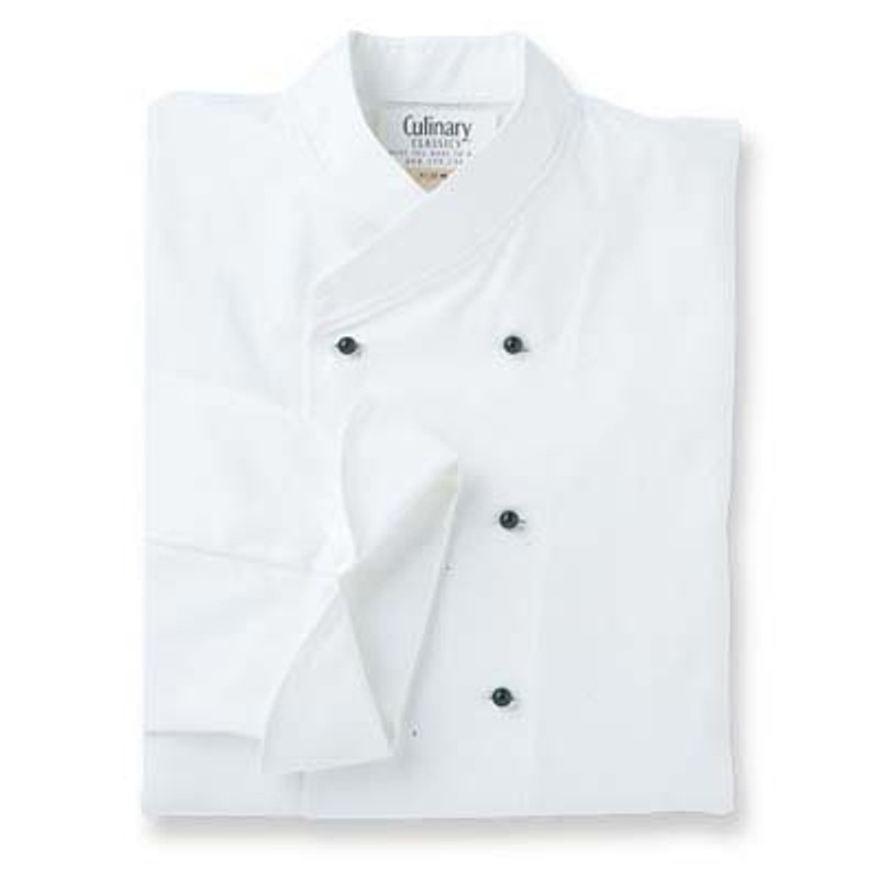 Women's Imperial Chef Coat in White with Back Ties