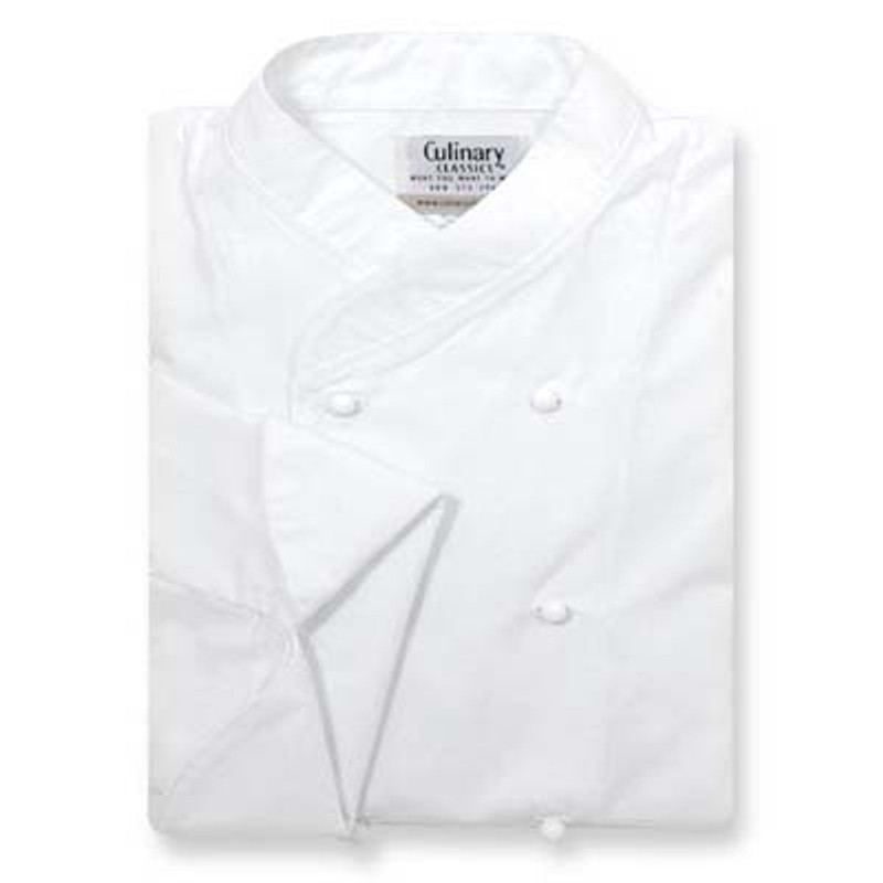 Women's Imperial Chef Coat in White Poplin