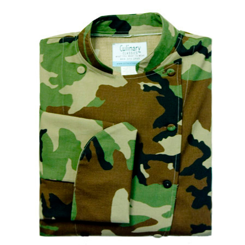 Traditional Chef Coat in Camouflage