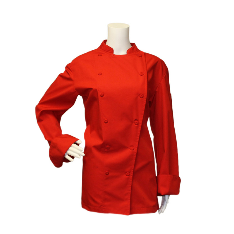 Women's Traditional Coat in Bright Red Maxima Poplin
