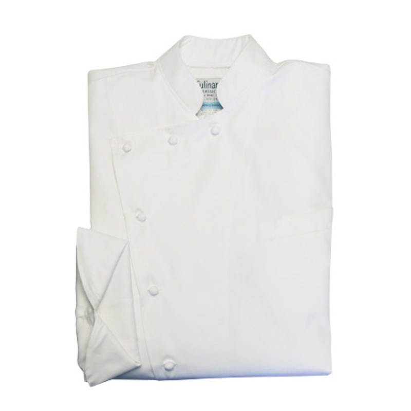 Bordeaux Chef Coat in White Egyptian Cotton 1