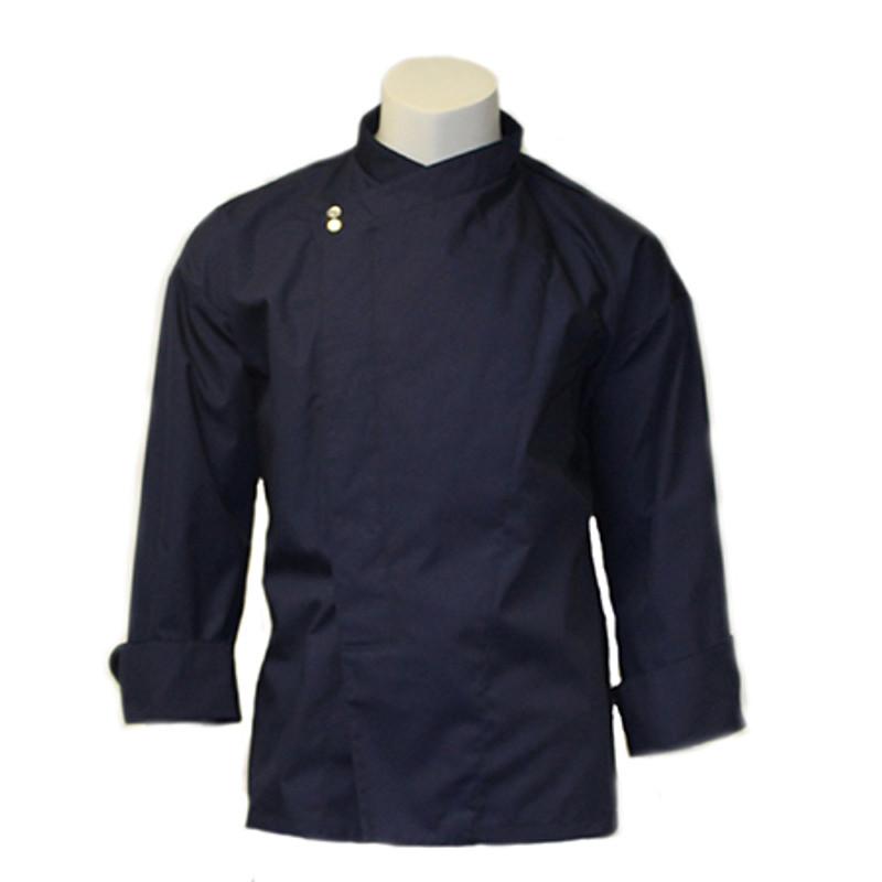 Montreal Chef Coat in Navy Poplin