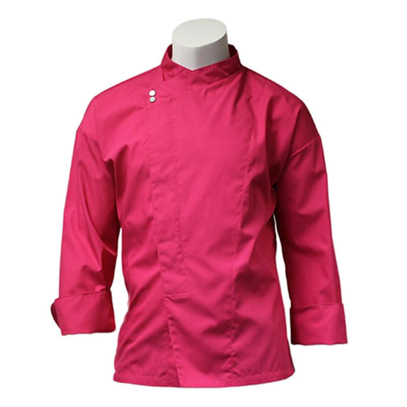 Montreal Chef Coat in Hot Pink Poplin