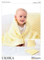 Baby Blanket and Cushion DK Pattern | UKHKA128 | Peter Pan DK