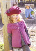 Childs Cardigans Aran Pattern | Sirdar Supersoft Aran 2259