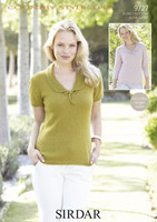 Collared Tops 4 Ply Pattern | Sirdar Country Style 4 Ply | 9727 - Image 1