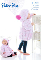 Babies / Childs Swing Jacket and Beret DK Pattern | Peter Pan Cupcake 1202