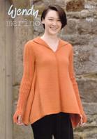 Handkerchief Hem Sweater 4 Ply Pattern |Wendy Merino 4 Ply 5807
