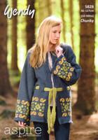 Kimono Jacket Chunky Knitting Pattern | Wendy Aspire Chunky 5828 - Main image