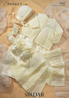 Matinee Layette Set 4 Ply Patterns | Sirdar Snuggly 4 Ply 1662