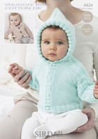 Babies / Childs Jackets DK Patterns | Snuggly Baby Cotton DK 4424