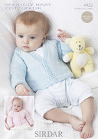 Babies / Childs Cardigans DK Patterns | Snuggly Baby Cotton DK 4423