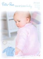 Bubble Cardigan 16-24in DK Knitting Pattern | Peter Pan Merino Baby DK 1161