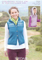 DK Pattern for Fair-Isle style Gilets - Sirdar Country Style DK 7121