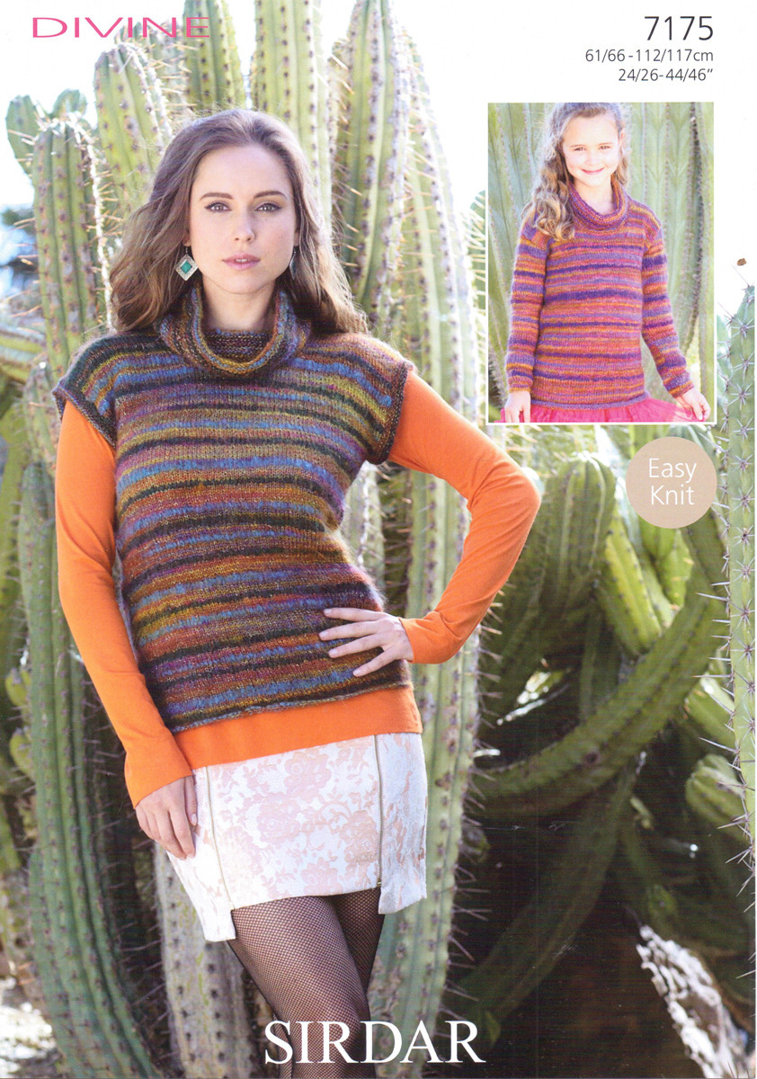 Cowl Neck Sweaters Dk Knitting Patterns Sirdar Divine 7175 Outback