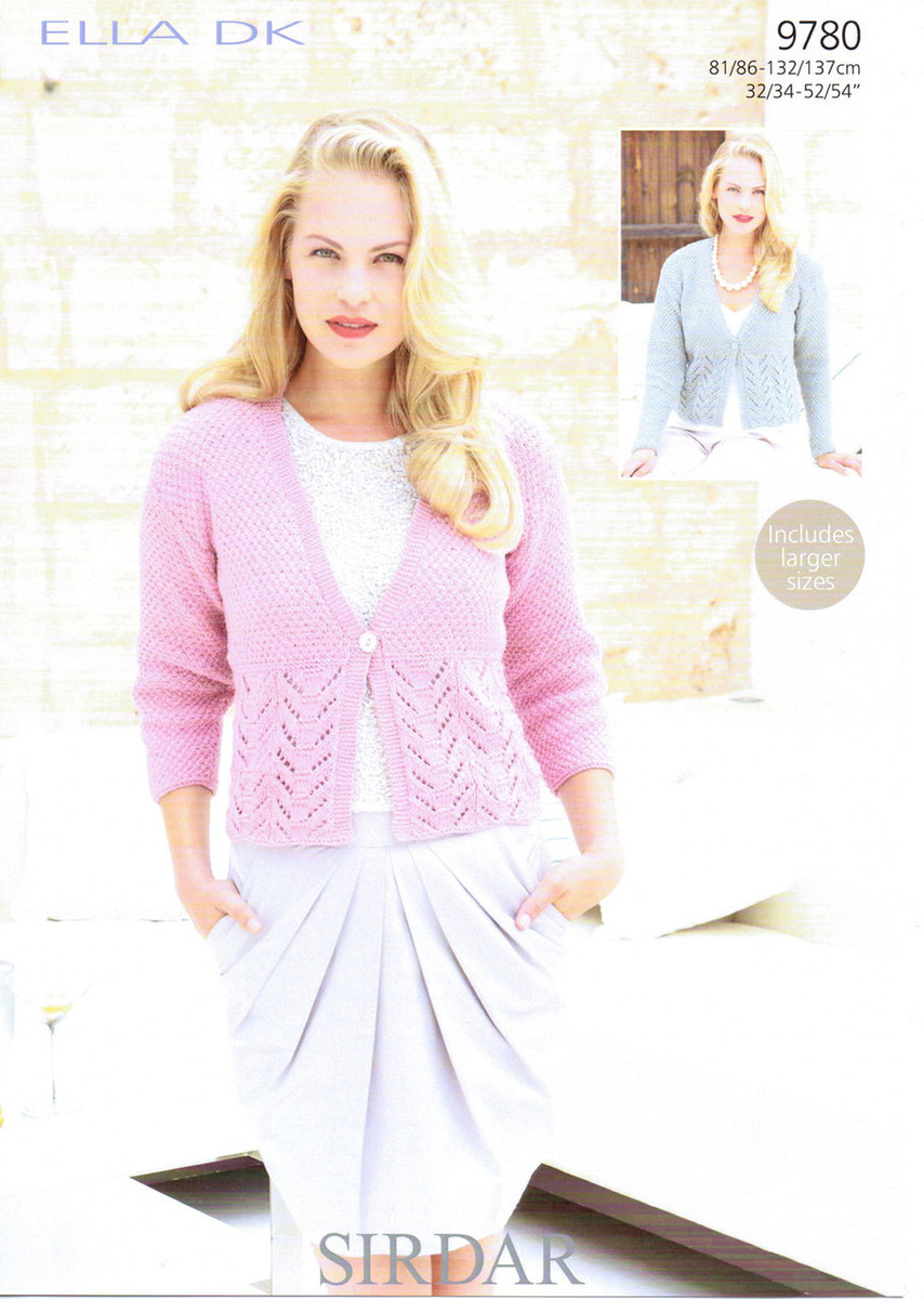 a36db69c782f66 Dk Pattern for a Womans Lacy Cardigan - Sirdar 9780 - Outback Yarns