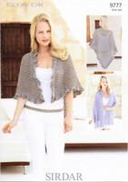 Wrap and Shawl DK Knitting Pattern | Sirdar Ella DK 9777