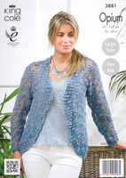 Ladies Cardigans Knitting Pattern | King Cole Opium 3881