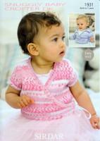 Baby / Girls Ballet Cardigans DK Patterns | Sirdar Snuggly Baby Crofter DK 1931