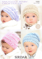Babies / Childs and Berets DK Pattern | Sirdar Snuggly Baby Crofter DK 1930