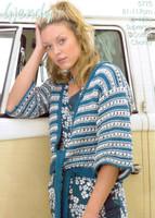 Tie Front Kimono Cardigan Knitting Pattern | Wendy Supreme Cotton Chunky 5775