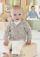 Babies / Boys Simple Cardigan DK Pattern | Sirdar Snuggly Baby Speckle DK 1357