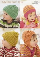 Babys & Child's Hats DK Knitting Patterns   Sirdar Snuggly DK 1242