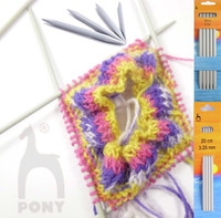 Pony Classic Double Pointed Knitting Pins 20cm length - Main