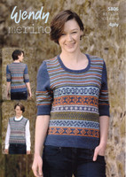 4ply Pattern for Fair Isle Tank Top and Sweater - Wendy Merino 4ply