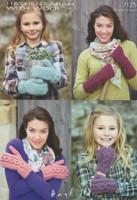 Mitt, Wrist Warmer & Fingerless Glove Aran Patterns | Sirdar Hayfield Aran 7125