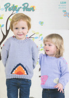 Childrens Mouse and Shark Sweater DK Pattern | Peter Pan DK 1239