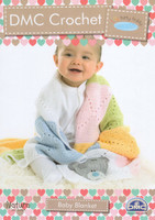 Tatty Teddy Crochet Baby Blanket 4 Ply Crochet Pattern | DMC Natura